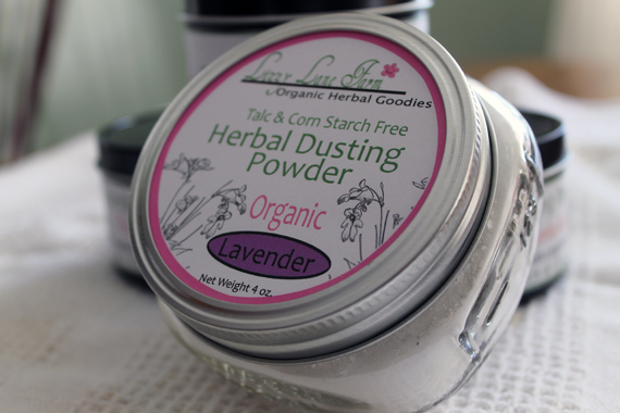 herbal dusting powder organic lavender
